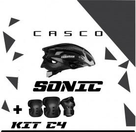 Combo casco sonic + kit c4